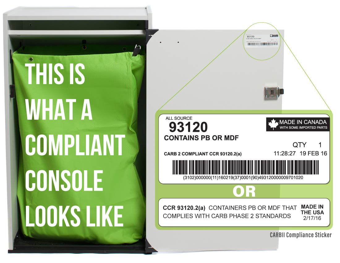 A Compliant Console Ergo Duraflex with a green All in One Bag inside - All Source Blog